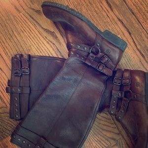 Born tall chestnut brown boots 8.5